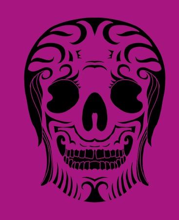 tattoo tribal mexican skull vector art Stock Vector - 19440469
