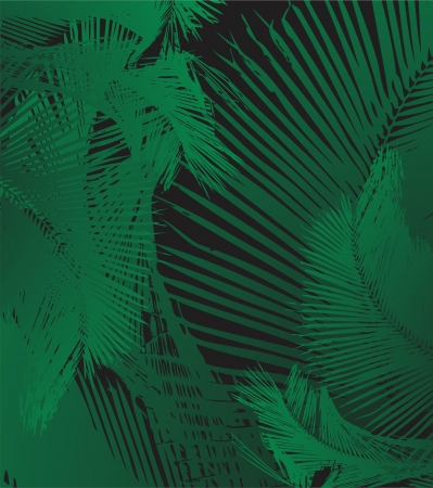 palm leaf background vector art Vector