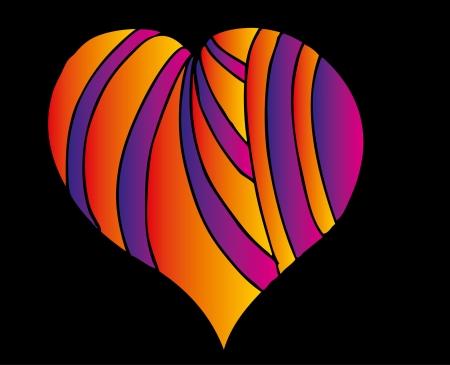 sophistication: tatuaje tribal rojo del arte del vector del coraz�n