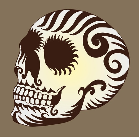 tattoo tribal mexican skull vector art Stock Vector - 19582212