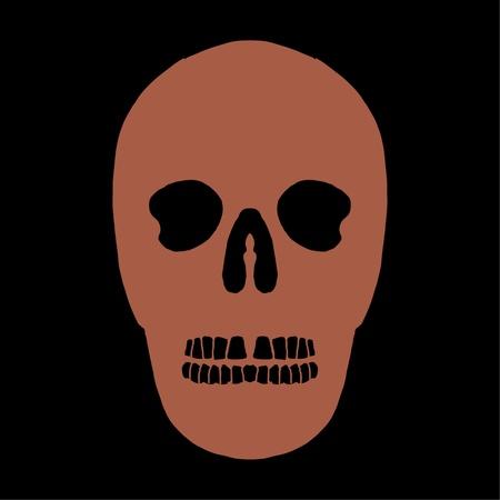 tattoo tribal mexican skull vector art Stock Vector - 19582208
