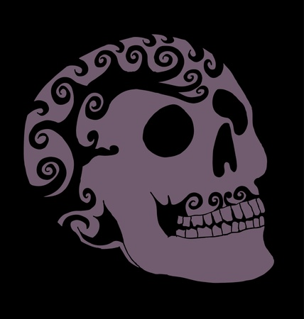 tattoo tribal mexican skull vector art Stock Vector - 19582210