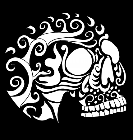 tattoo tribal mexican skull vector art Stock Vector - 19582213