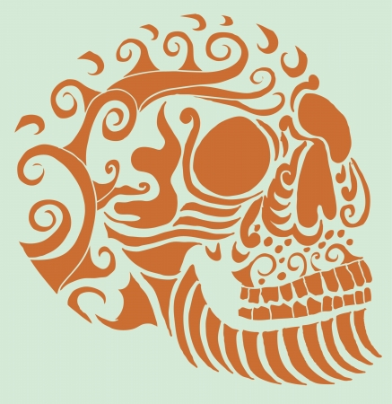 tattoo tribal mexican skull vector art Фото со стока - 19582216