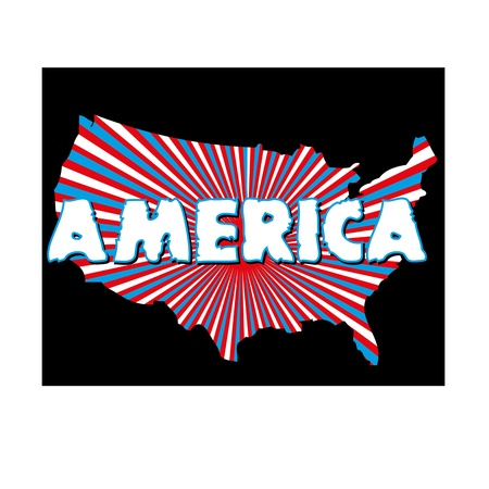 american map and text vector art Stock Vector - 19582248
