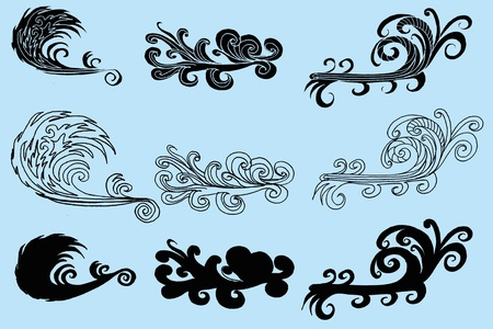 tattoo tribal wave vector art Vector