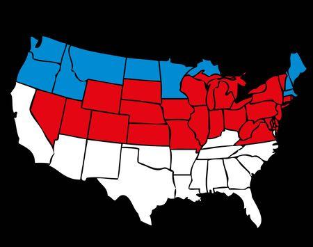 american map line vector art Stock Vector - 19582247