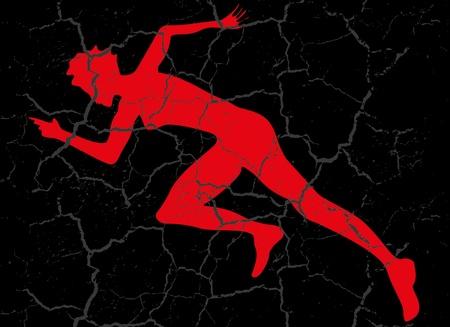 red runner grunge background vector art Stock Vector - 19582289