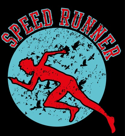 speed runner grunge background vector art Stock Vector - 19582287