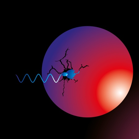 black background sperm vector art Vector