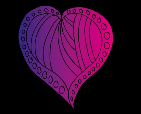 sophistication: tatuaje tribal rojo del arte del vector del coraz?n