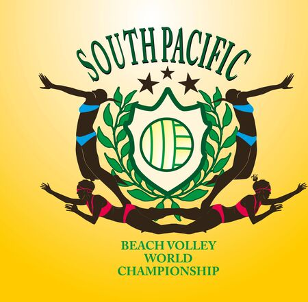 south pacific ocean beach volley vector art Stock Vector - 19582440