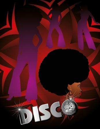 afro disco girls vector art Illusztráció