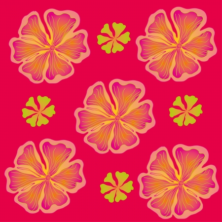 spring hibiscus flower vector art