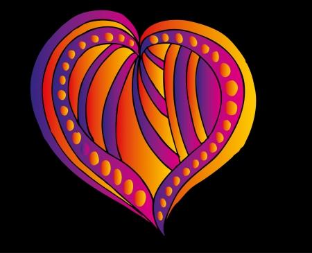 sophistication: tattoo tribal red heart vector art