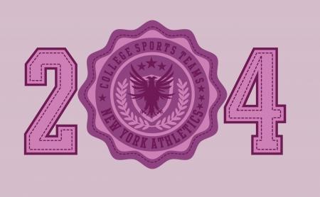 eagle badge embroidery vector art Stock Vector - 19582453