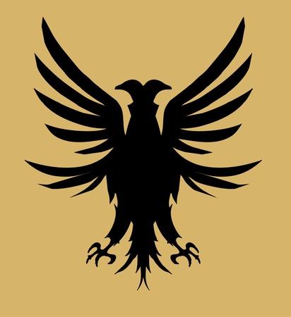 signmaker: tribal tattoo eagle shield vector art Illustration