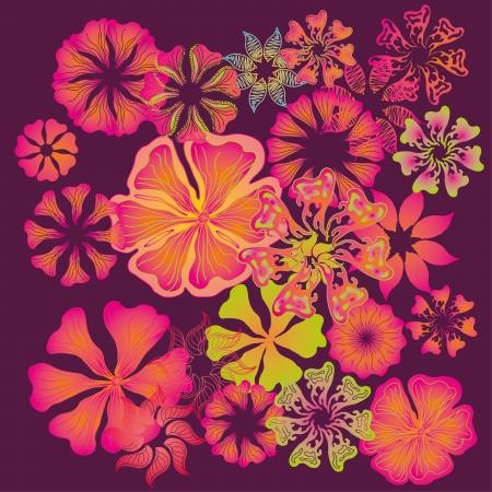 spring hibiscus flower vector art Vector