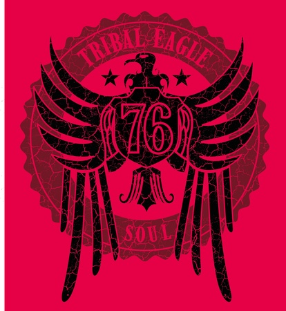 tribal tattoo eagle vector art Stock Vector - 19648671