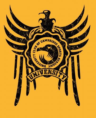 signmaking: tribal tattoo eagle badge vector art Illustration