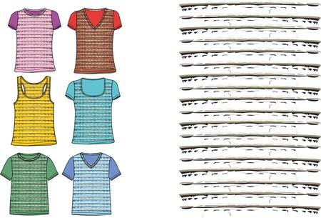 ringer tshirt set vector art Stock Vector - 19648530