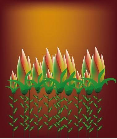 tulip flower garden vector art Stock Vector - 19648694
