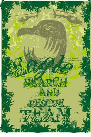 eagle head vintage frame vector art Stock Vector - 19648619