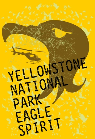 yellowstone national park eagle spirit vector art Stock Vector - 19648594