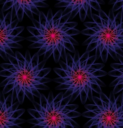 black background atomic design vector art Stock Vector - 19648675