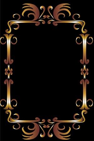 tribal design gold frame vector art Stock Vector - 19648691