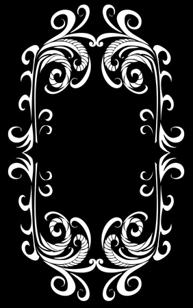 tattoo tribal frame vector art Stock Vector - 19648702