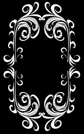 tattoo tribal frame vector art Stock Vector - 19648702