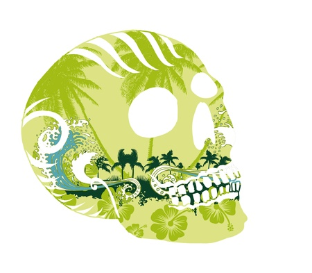 tattoo tribal skull vector art Stock Vector - 19648739