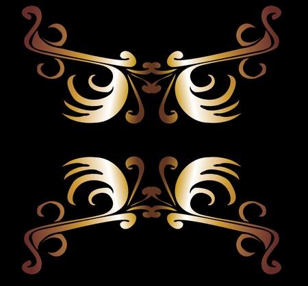 tribal design gold frame vector art Stock Vector - 19648697