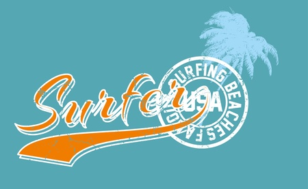 palm beach surfer vector art Stock Vector - 19648738