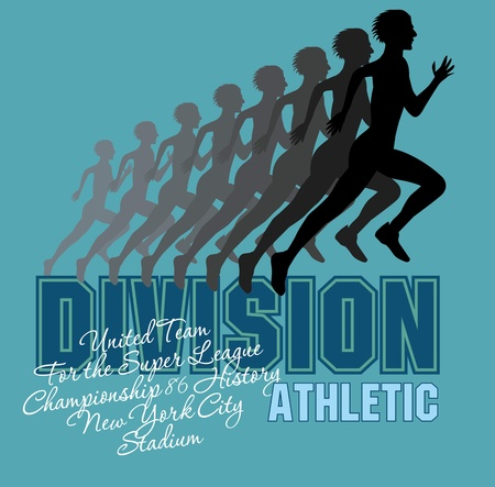 runner athletic division vector art Stock Vector - 19648740