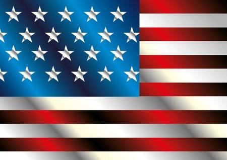 american flag art Stock Vector - 19932108