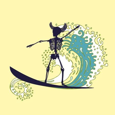 chillout: tattoo tribal surfer big wave art
