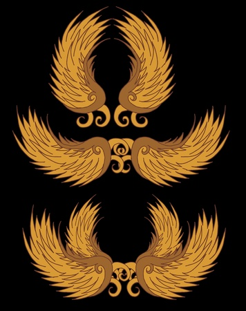 tribal tattoo wings art Vector