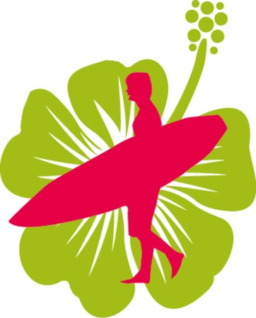 luau party: hibiscuse surfista y arte de la flor