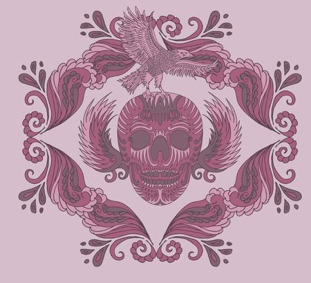 chaser: big wave tattoo skull art