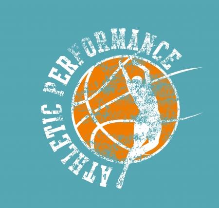 college basketball sports art Illusztráció