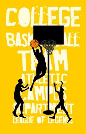 college basketball sports art Stock Vector - 19932296