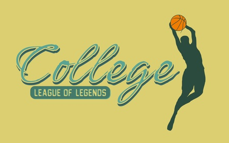 college basketball sports art Vector