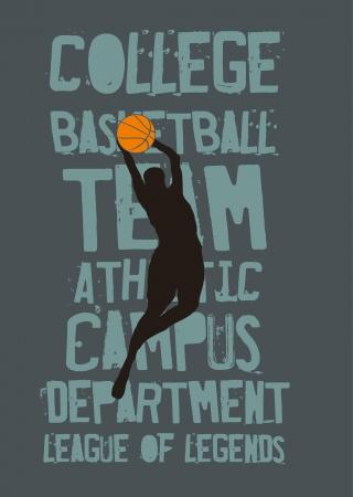 college basketball sports vector art Vector