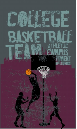 college basketball sports vector art Stock Vector - 20325972