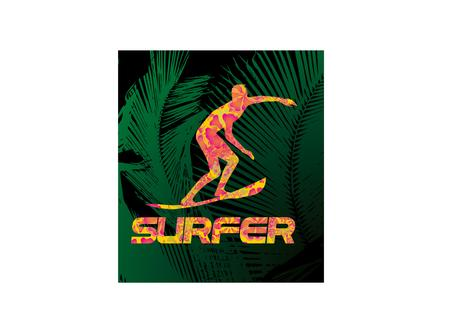pacific surfer chamipon club vector graphic design Stock fotó - 22205681