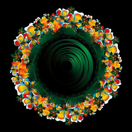 luau party: flor y arte de la paz