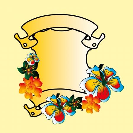flower and peace art Illusztráció