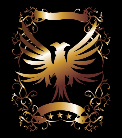 golden eagle tribal art Vector
